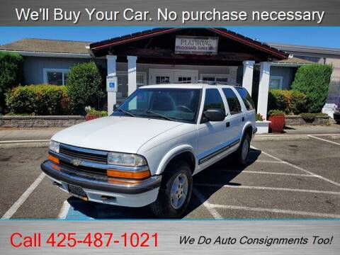 1999 Chevrolet Blazer for sale at Platinum Autos in Woodinville WA