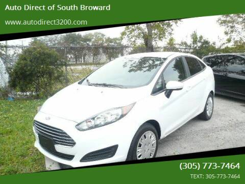 2016 Ford Fiesta for sale at Auto Direct of South Broward in Miramar FL