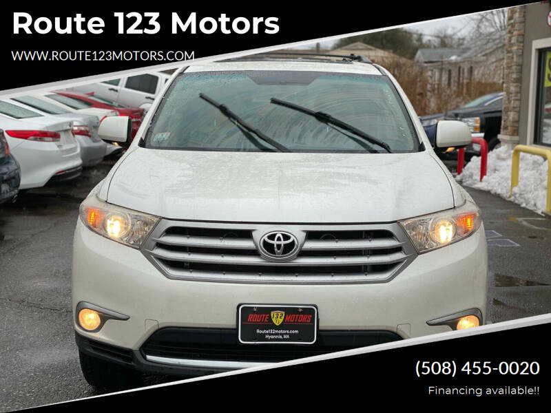 2011 Toyota Highlander for sale at Route 123 Motors in Norton MA