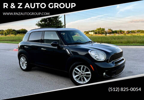 2012 MINI Cooper Countryman for sale at R & Z AUTO GROUP in Austin TX