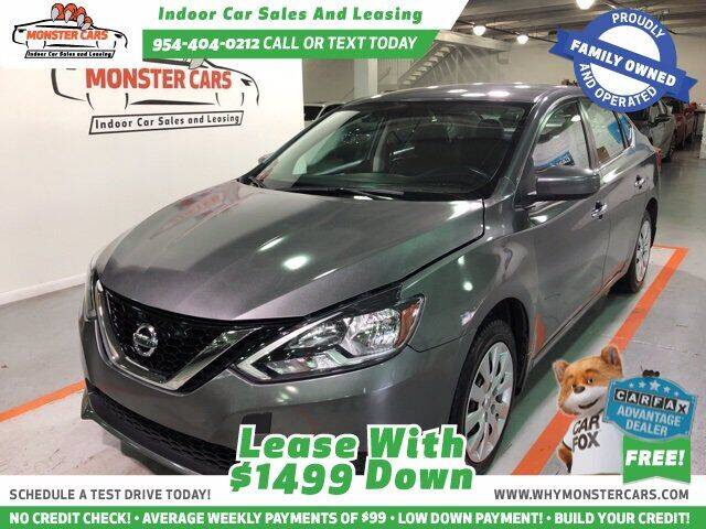 2017 Nissan Sentra for sale at Monster Cars LLC - Lease Vehicles in Pompano Beach FL
