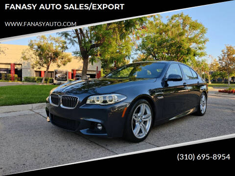 2015 BMW 5 Series for sale at FANASY AUTO SALES/EXPORT in Yorba Linda CA
