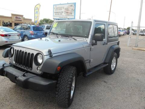 2016 Jeep Wrangler for sale at AUGE'S SALES AND SERVICE in Belen NM