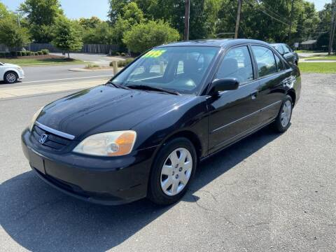 2001 Honda Civic for sale at Starmount Motors in Charlotte NC