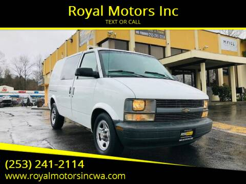 2004 Chevrolet Astro Cargo for sale at Royal Motors Inc in Kent WA