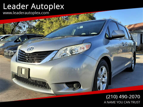 2012 Toyota Sienna for sale at Leader Autoplex in San Antonio TX