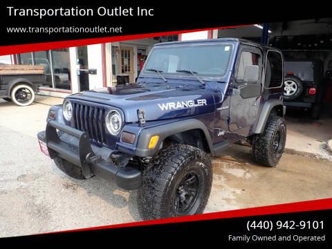 1997 Jeep Wrangler for sale at Transportation Outlet Inc in Eastlake OH