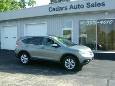 2012 Honda CR-V for sale at Cedar Auto Sales in Lansing MI