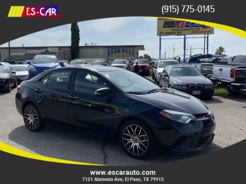 2015 Toyota Corolla for sale at Escar Auto - 9809 Montana Ave Lot in El Paso TX