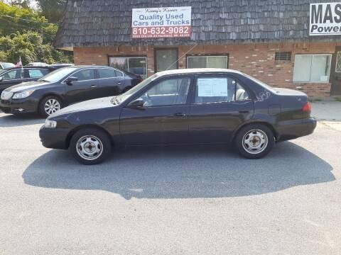 1999 Toyota Corolla for sale at Kenny's Korner in Hartland MI