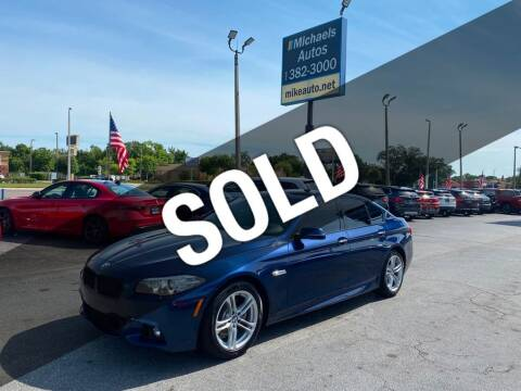 2016 BMW 5 Series for sale at Michaels Autos in Orlando FL