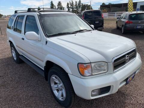 2002 Nissan Pathfinder for sale at Praylea's Auto Sales in Peyton CO
