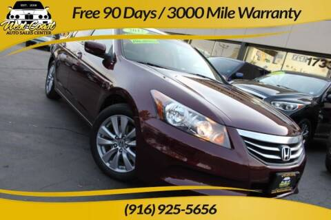 2012 Honda Accord for sale at West Coast Auto Sales Center in Sacramento CA