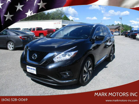 2018 Nissan Murano for sale at Mark Motors Inc in Gray KY