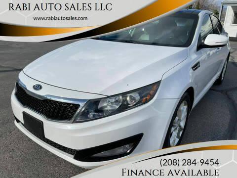 2012 Kia Optima for sale at RABI AUTO SALES LLC in Garden City ID