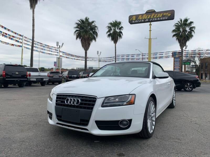 2011 Audi A5 for sale at A MOTORS SALES AND FINANCE in San Antonio TX
