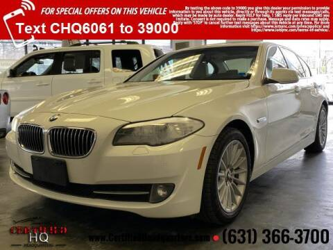 2013 BMW 5 Series for sale at CERTIFIED HEADQUARTERS in St James NY
