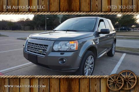 2010 Land Rover LR2 for sale at F.M Auto Sale LLC in Dallas TX