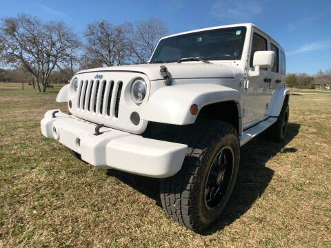 2013 Jeep Wrangler Unlimited for sale at Carz Of Texas Auto Sales in San Antonio TX