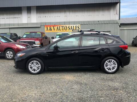 2017 Subaru Impreza for sale at A & V AUTO SALES LLC in Marysville WA