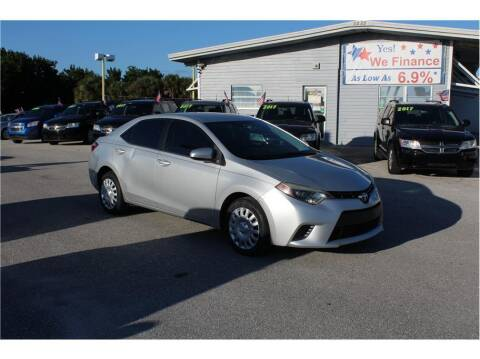 2016 Toyota Corolla for sale at My Value Car Sales in Venice FL