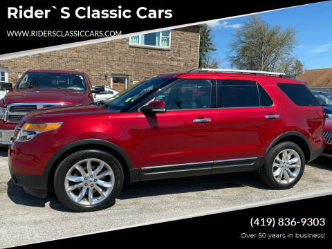 2013 Ford Explorer for sale at Rider`s Classic Cars in Millbury OH