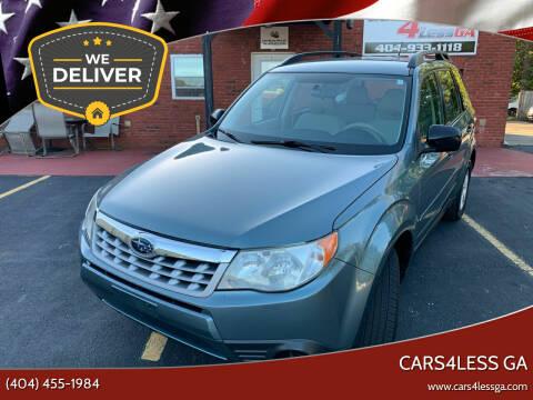 2013 Subaru Forester for sale at Cars4Less GA in Alpharetta GA
