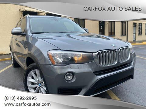 2017 BMW X3 for sale at Carfox Auto Sales in Tampa FL