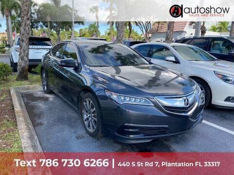2016 Acura TLX for sale at AUTOSHOW SALES & SERVICE in Plantation FL