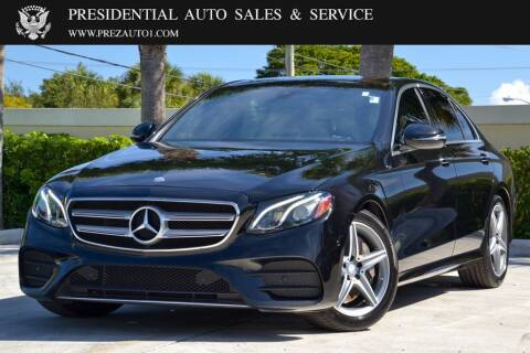 2017 Mercedes-Benz E-Class for sale at Presidential Auto  Sales & Service in Delray Beach FL