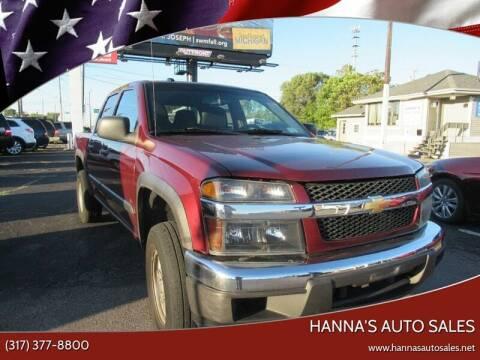 2008 Chevrolet Colorado for sale at Hanna's Auto Sales in Indianapolis IN