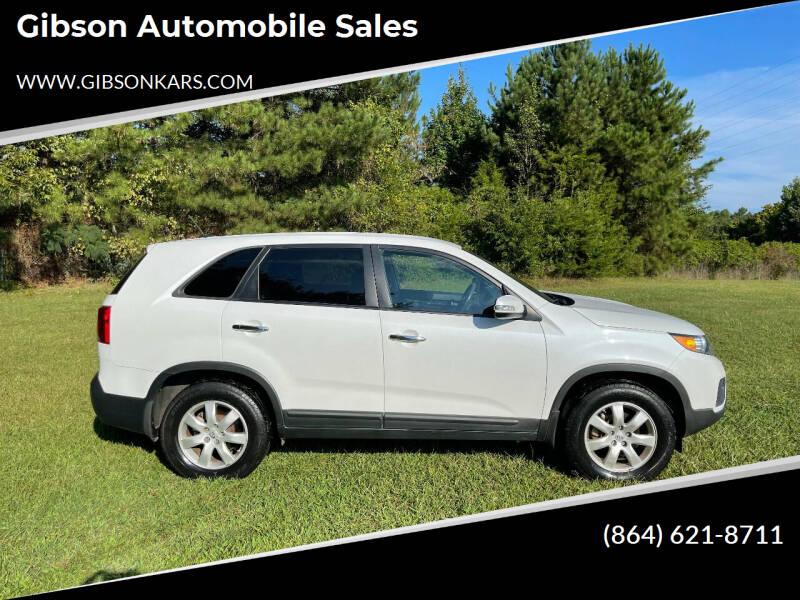2013 Kia Sorento for sale at Gibson Automobile Sales in Spartanburg SC