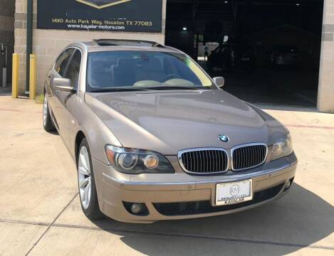 2007 BMW 7 Series for sale at KAYALAR MOTORS - ECUFAST HOUSTON in Houston TX