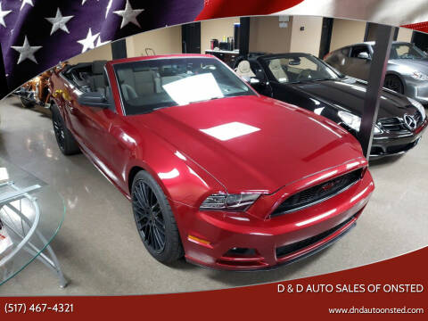 2014 Ford Mustang for sale at D & D Auto Sales Of Onsted in Onsted   Brooklyn MI