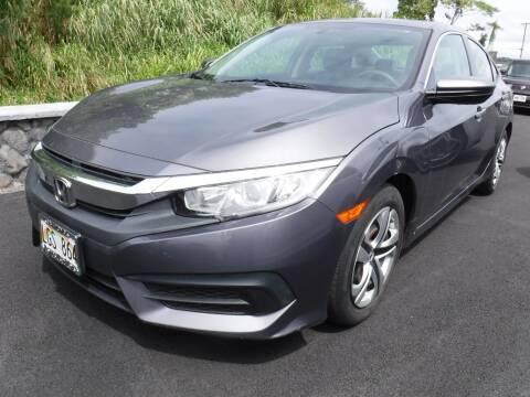 2016 Honda Civic for sale at PONO'S USED CARS in Hilo HI