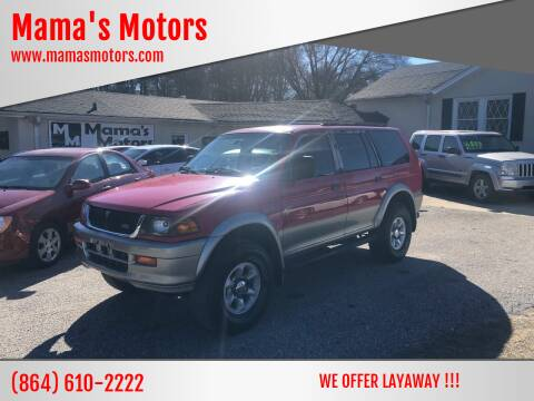 1997 Mitsubishi Montero Sport for sale at Mama's Motors in Greer SC