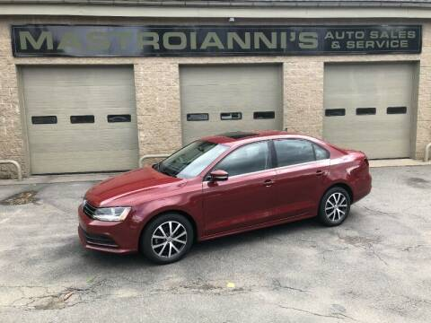 2017 Volkswagen Jetta for sale at Mastroianni Auto Sales in Palmer MA