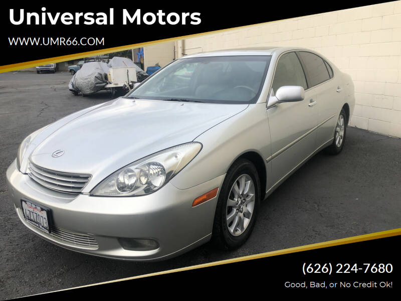 2003 Lexus ES 300 for sale at Universal Motors in Glendora CA
