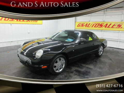2002 Ford Thunderbird for sale at G and S Auto Sales in Ardmore TN