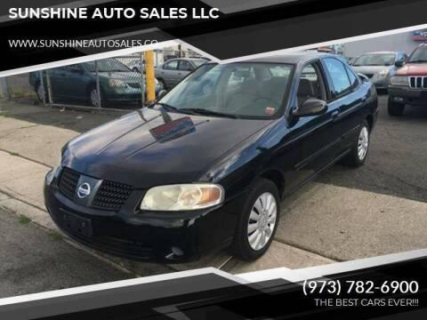 2006 Nissan Sentra for sale at SUNSHINE AUTO SALES LLC in Paterson NJ