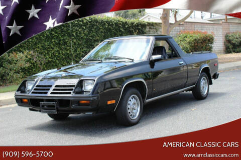 1982 Dodge Rampage for sale at American Classic Cars in La Verne CA