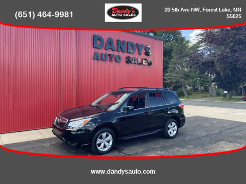 2014 Subaru Forester for sale at Dandy's Auto Sales in Forest Lake MN