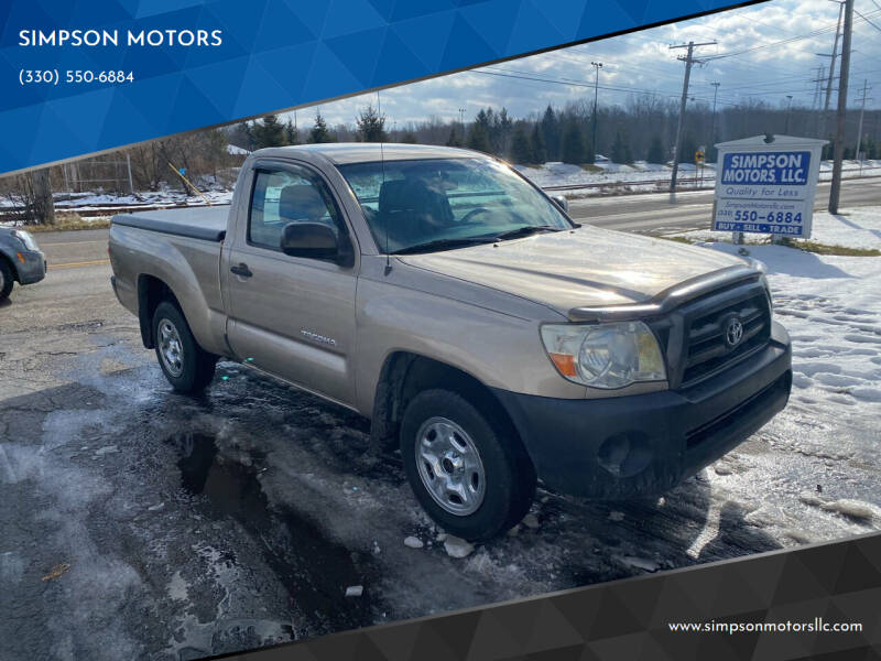 2008 Toyota Tacoma for sale at SIMPSON MOTORS in Youngstown OH