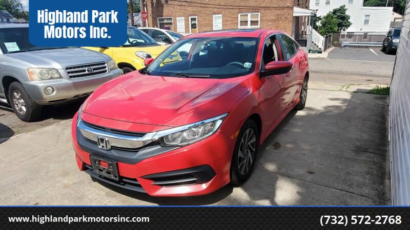 2016 Honda Civic for sale at Highland Park Motors Inc. in Highland Park NJ