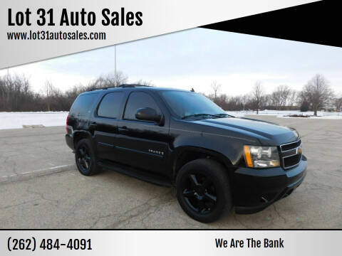 2007 Chevrolet Tahoe for sale at Lot 31 Auto Sales in Kenosha WI