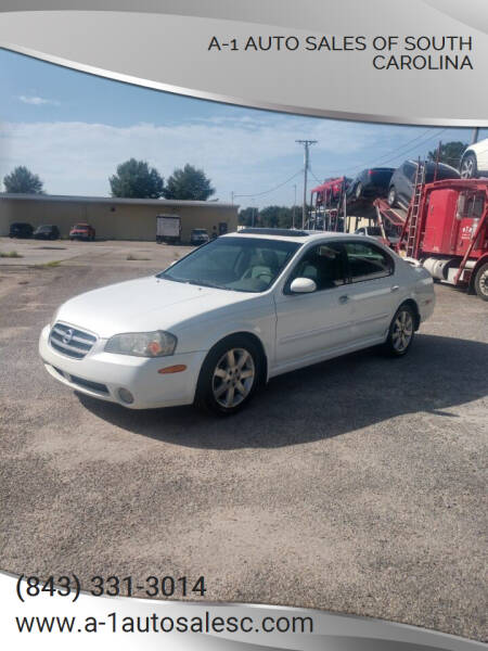 2003 Nissan Maxima for sale at A-1 Auto Sales Of South Carolina in Conway SC