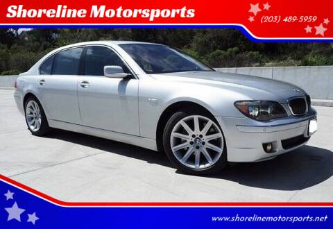 2008 BMW 7 Series for sale at Shoreline Motorsports in Waterbury CT