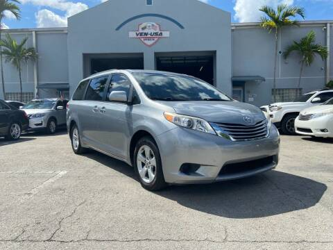 2017 Toyota Sienna for sale at Ven-Usa Autosales Inc in Miami FL
