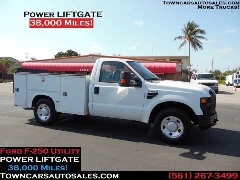 2009 Ford F-250 Super Duty for sale at Town Cars Auto Sales in West Palm Beach FL
