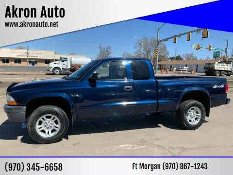 2004 Dodge Dakota for sale at Akron Auto - Fort Morgan in Fort Morgan CO